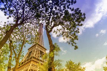 Beautiful view of Eiffel tower