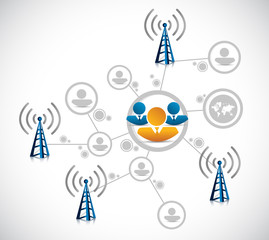 wifi connection network illustration design