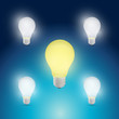 light bulbs yellow and white illustration design