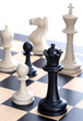 Chess queen and chessmen