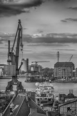 Shipbuilding crane in the city of Gdansk, Poland