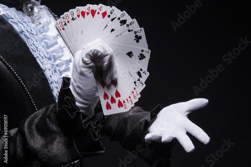 Leinwanddruck Bild Consummate mastery of magician