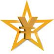 gold yen symbol illustration design