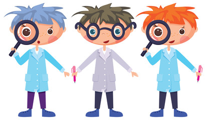 Cartoon scientists