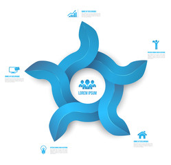 Abstract circle arrows  Infographic clean style.