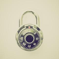 Retro look Stoplock padlock
