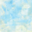 Painted watercolor cloud and sky.