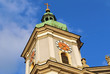 canvas print picture - Kirchturm von Basilika