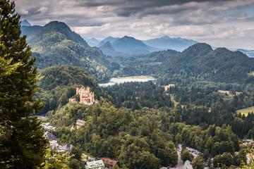 Yellow castle Hohenschwangau, Germany