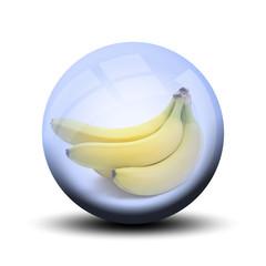 Fruit dans bulle : banane