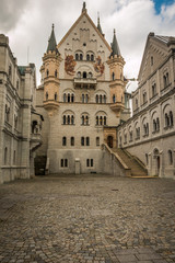 Courtyard of Neuschwanstein Castle in Bavaria, Germany
