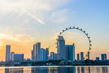 SINGAPORE - JUNE 23: At a height of 165m, Singapore Flyer is the