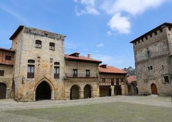 Architecture in the famous Cantabrian village Santillana del Mar