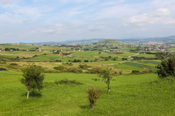 Beautiful Cantabrian countryside near Santillana del Mar