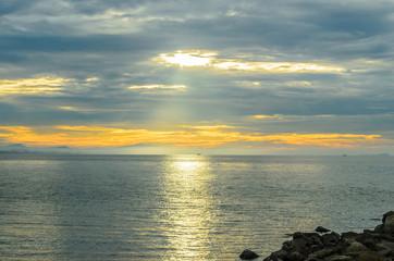 sunrise thai sea.