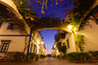 canvas print picture - Abendstimmung in Puerto Mogan – Gran Canaria