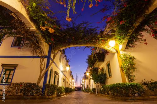 canvas print picture Abendstimmung in Puerto Mogan – Gran Canaria