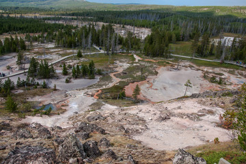 Looking Down at Yellowstone Paint Pots