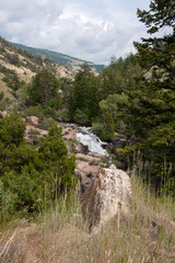 Overlooking Shell Falls in Bighorn National Forest
