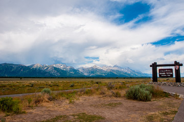 Entrance to the Grand Tetons