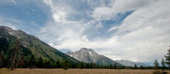 Panoramic View of the Grand Tetons