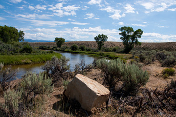 Winding River - Rural Wyoming Scenic View