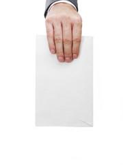Mailman with whiteenvelope