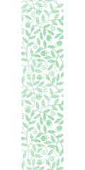 Leaves and swirls textile vertical seamless pattern background