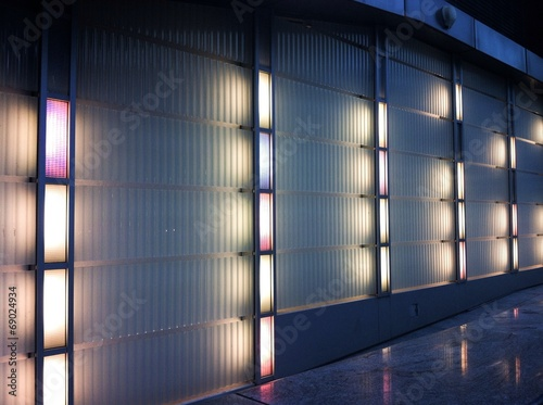 canvas print picture lights at night