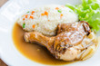 canvas print picture - Roast chicken