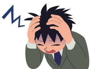 ビジネスマン/頭痛