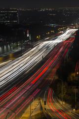 San Diego Freeway Los Angeles Night