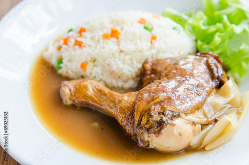 canvas print picture Roast chicken