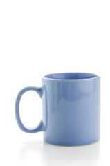 Color mug isolated on white