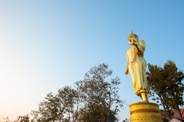 Golden Buddha statue in Wat Phra That Khao Noi, Nan Province, Th