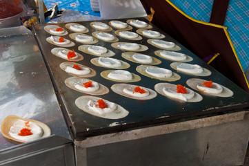 Thai dessert style crispy crepes