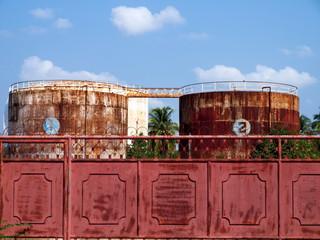 Rusty silos