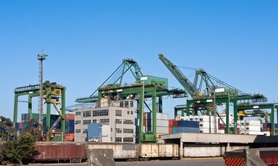 Port area of  Santos, Brazil