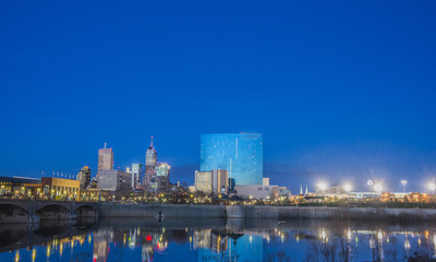 Indianapolis Indiana Skyline Night