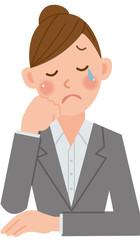 ビジネスウーマン 泣く