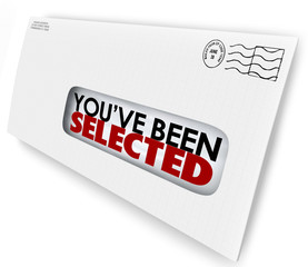 You've Been Selected Words Envelope Letter Official Notification