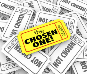 The Chosen One Golden Ticket Lucky Winner Selected Game Competit