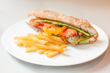 vegetables sandwitch - healthy food