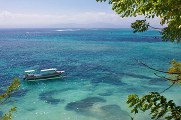 Beautiful bay in Nusa Lembongan