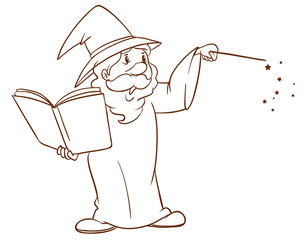A simple sketch of a wizard