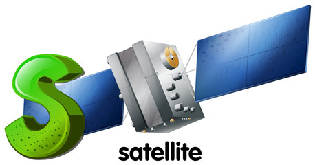 A letter S for satellite