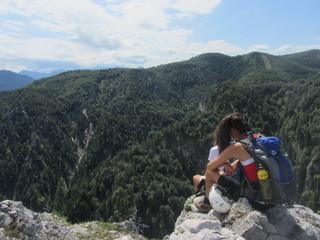 Kletterer auf Gipfel