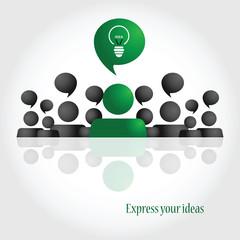 Social media. Idea. People chat. Brainstorming.
