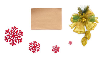 Old parchment paper with copy space on Christmas