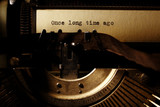 old inscription on a typewriter